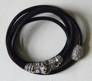 schwarz silber 5-fach