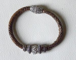 snake mittelbraun 1-fach silber