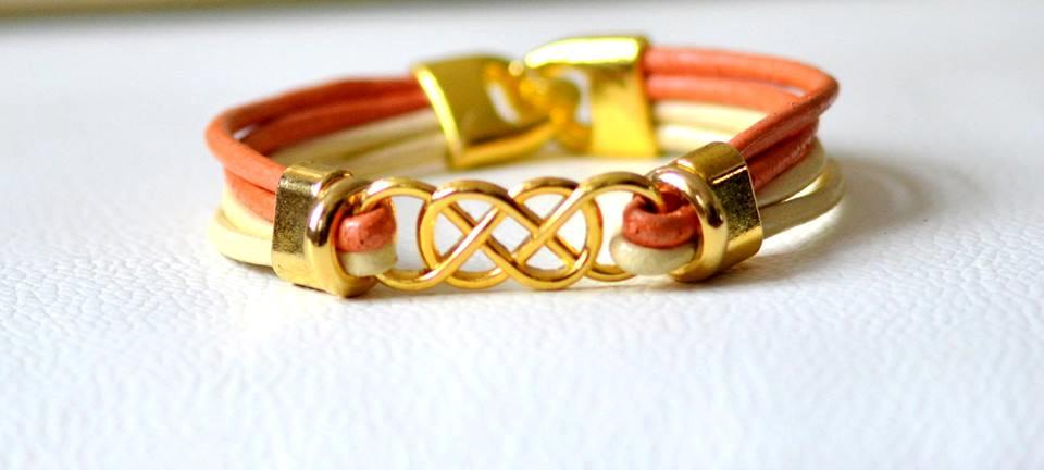 Armband zim-elfenbei 4-fach